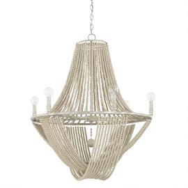 "This chandelier is part of the Kayla Collection and measures 28.50""W X 34""H (Product #429561MS)."