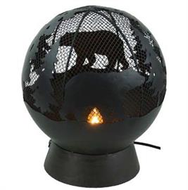 "8""x8.5"" decorative light with silhouette of bears and evergreen trees. Great accent light for any home."
