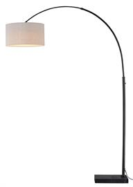 The Luna arc lamp features Instalux® Motion-Controlled technology. The bronze finish, marble base and linen shade adds a contemporary feel to any seating area. Instalux technology allows you to create the perfect lighting environment using simple hand motions.