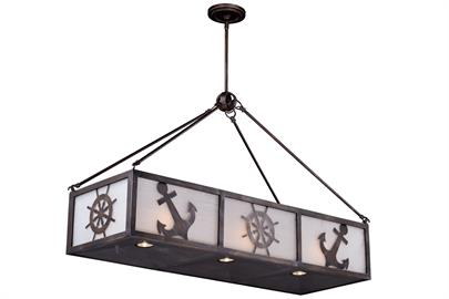 Bring your love of the sea indoors with the Nautique collection. This Pendant is not only impressive but also efficient. Choose the type and amount of up or down light with the light with a 3-way switch. The nautical inspired emblems are sure to be the buzz of any social gathering.