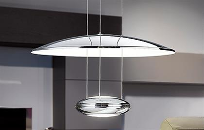 2x6.5W LED Pendant / Chrome Finish