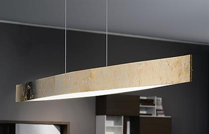 4X6W LED Pendant w/ Gold Finish