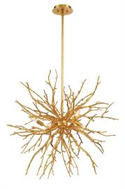 Luxurious gilded branches arranged in natural clusters Luxurious gilded branches, inspired by the staghorn coral, are arranged in various clusters. This unique piece creates a sense of awe upon gazing at this work of art.