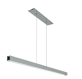 The sleek modern design with of the Glide Glass pendant from Edge Lighting is available in 3 finishes; Black, White and Mirrored Glass. The customable suspension light is available in 48 and 60 inch lengths and includes a 26 inch rectangular canopy. The unique LED pendant has 7 watts per foot and is available in a warm white 2700K or 3000K with a CRI of 92. Creating the right ambience with the Glide Glass pendant is easy; the sophisticated pendant is dimmable with a low voltage electronic dimmer.