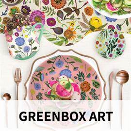 At GreenBox Art, we work directly with artists to create an extensive assortment of home decor, accessories, and gifts that are pretty, practical, and most of all - HAPPY! Create a new mood in any room with GreenBox Canvas Wall Art, which is made in the USA with a sustainable wood frame and printed with eco-friendly GreenGuard ink. We also offer contemporary art prints and mini framed canvases for all ages, along with our ever-popular kitchen collection of tea towels, mugs, dishes and more. GreenBox home