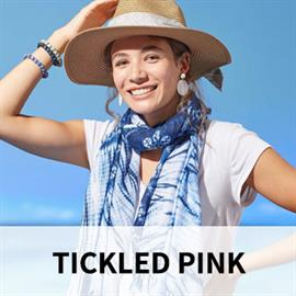 Tickled Pink offers a unique and trendy selection of wholesale fashion accessories such as scarves, women's hats, jewelry, and more.