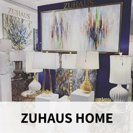 Zuhaus collections focus on portable lighting, hand-painted art, mirrors, alternative wall décor, unique tabletop accessories, and occasional tables. They take pride in producing quality designed yet affordable home décor that resonates with transitional consumers in many channels of distribution.