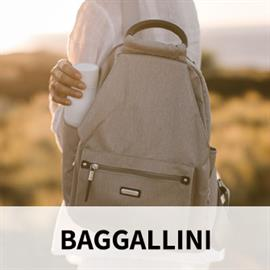 Creators of fashionable and functional tote bags, handbags and travel accessories that are incredibly organized and look as good as they perform. Baggallini is well known for their distinctive color palettes, fun fabrics and lightweight durability.