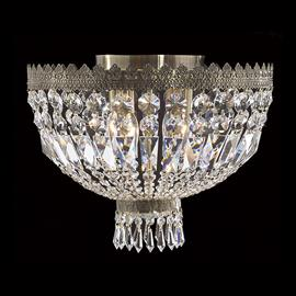 "D16"" x H12"", (4) E12 candelabra bulbs, 40w max.  Antique bronze metal finish, 30% fully leaded crystal."