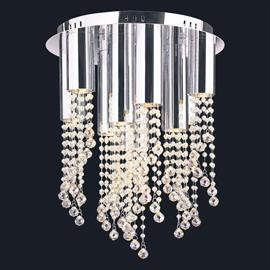 "D16"" x H20"", (10) GU10 bulbs (halogen or LED), polished chrome finish, 30% full leaded crystal."