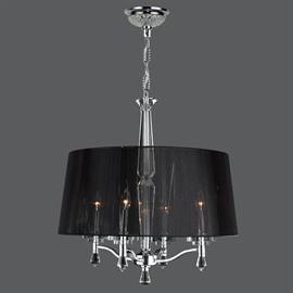 "D18"" x H20"", (4) candelabra bulbs, 60w max.  Polished chrome metal finish, 30% full leaded crystal."