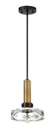 "Large scale pristine polished crystal shade and Vintage LED or Incandescent lamps create these uniquely styled and beautiful pendants. Solid stems totaling 96"" standard.  Ships with 3 pre-cut rods. Fully Dimmable Available in finishes: BB-Aged brushed brass with Bronze accents. SN-Satin Nickel with Satin Nickel accents. BZ-Aged Bronze with aged bronze accents."