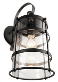 With a simple ironwork structure, Mill Lane borrows its style from the classic lanterns found in America's western and coastal towns at the turn of the century.  Clear seeded glass adds to the vintage look.