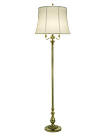 Traditional Floor Lamp with Softback Shade American Made