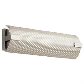 Warm white LED, Brushed Nickel finish, White Acrylic diffuser covered with metal mesh